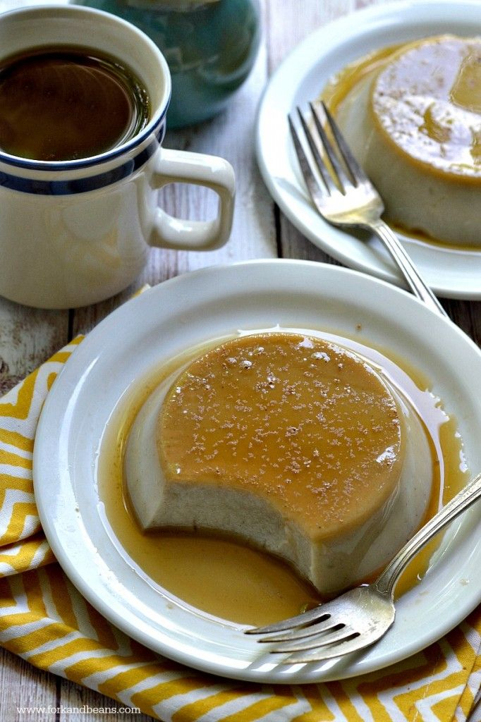Vegan Cinnamon Cashew Milk Flan - Fork & Beans