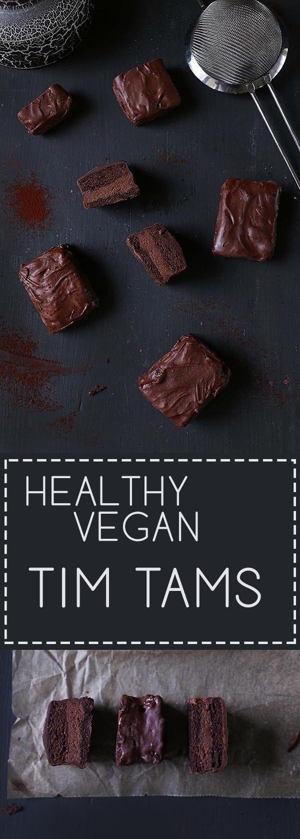 Healthy Vegan TimTams | vanillacrunnch.com