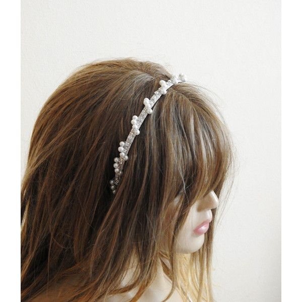 Wedding Crown bridal tiara headpiece Bridal Hair by selenayy ($42) found on Polyvore