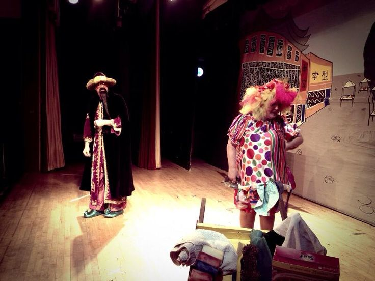 Aladdin I played Widow Twankey traditionally played by a man