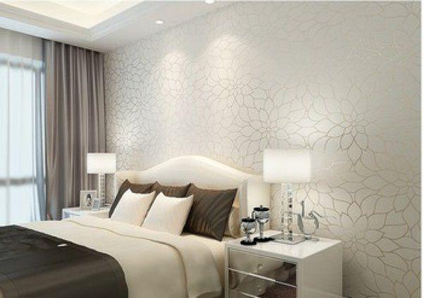 Wandgestaltung selber machen Paneele im Holz-Look - tapete für schlafzimmer