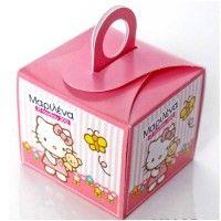 Κουτάκι για παστάκι βάπτισης Hello Kitty με την ημερομηνία της βάπτισης του παιδιού σας και το όνομα του.  #vaptisi_hello_kitty #kouti_gia_pastaki #hello_kitty