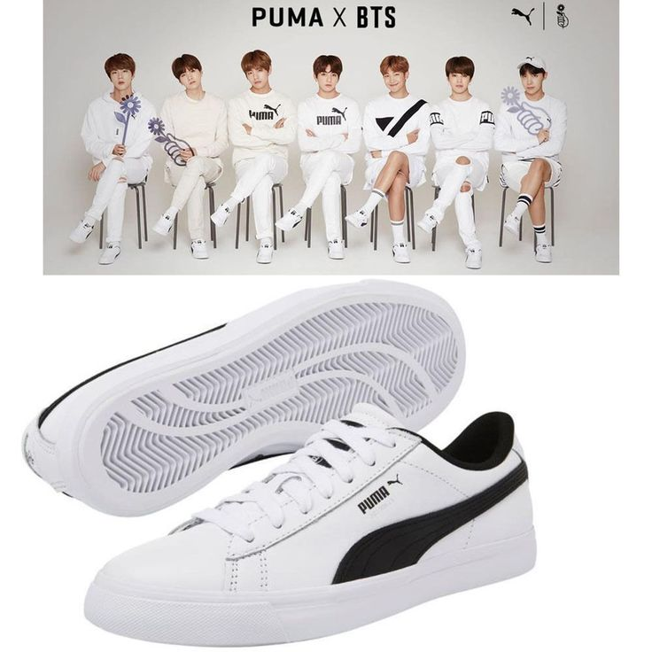 BTS BANGTAN BOYS x PUMA Collaboration Court Star Shoes With Love Yourself  Cards