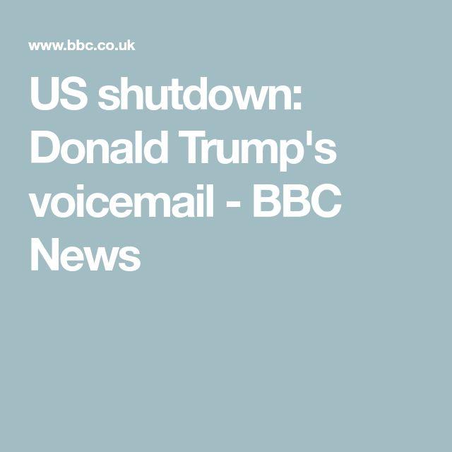 US shutdown: Donald Trump's voicemail - BBC News