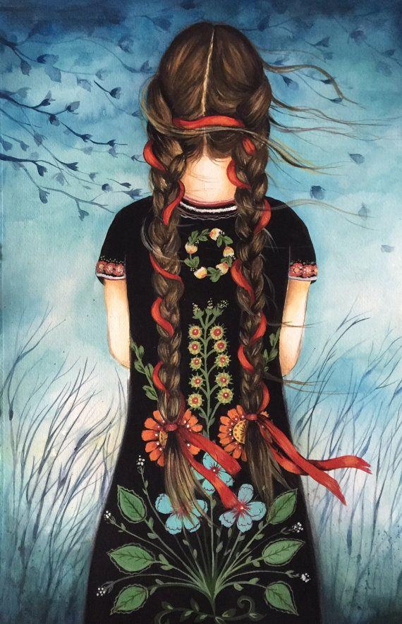 ilustración-mujer-con-vestido-de-flores