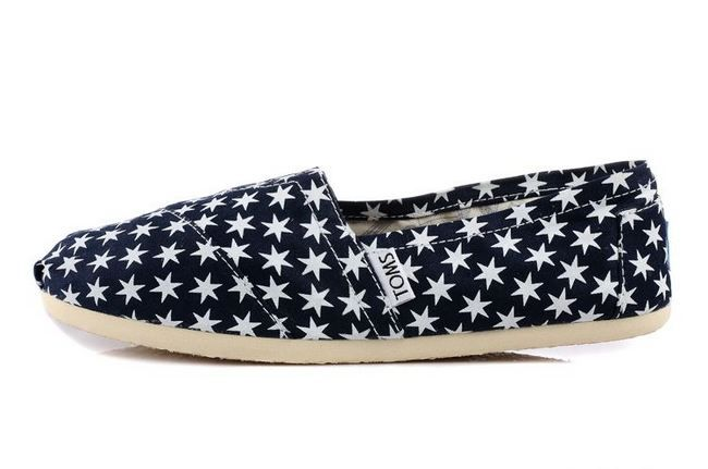 New Arrival Toms women shoes Blue hexagonal star