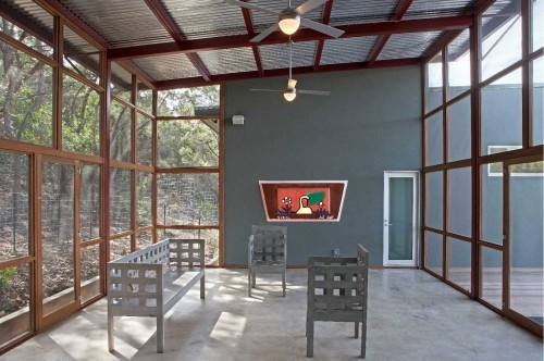 big screened in porch. metal roof.: Ideas, Screened Porch, Modern Porch, Metal, House, Vrazel Architects, Porches, Photo, Design