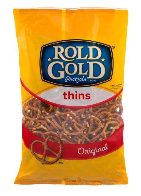 Crisps [Chips], Nuts & Snacks - Frito-Lay - Rold Gold Pretzels Thins Original - USA