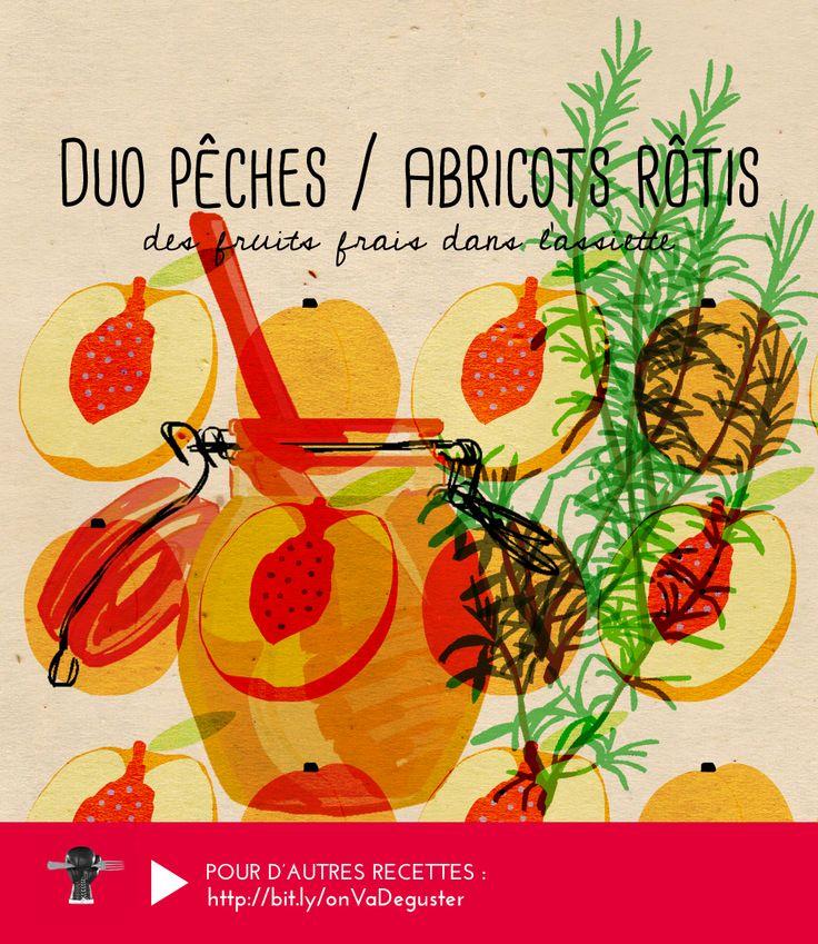 DUO PECHES / ABRICOTS ROTIS : parce que rien ne vaut la saveur de bons fruits frais en été ! RECETTE ICI : http://www.franceinter.fr/emission-on-va-deguster-peches-et-abricots