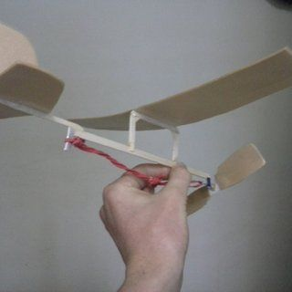 Rubber Band Powered Aeroplane