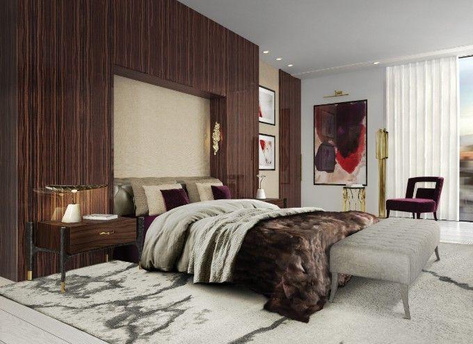 Erstaunliches Luxus Schlafzimmer Für Das Perfekte Wohndesign | Samt  Polsterei | Messing Möbel | BRABBU Inspirationen