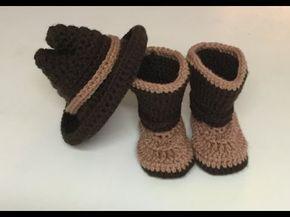 Gorro vaquero a crochet - YouTube