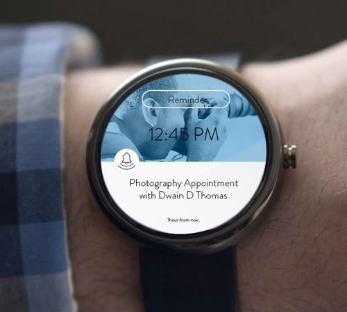 Android Wear UI Designs Reminder App