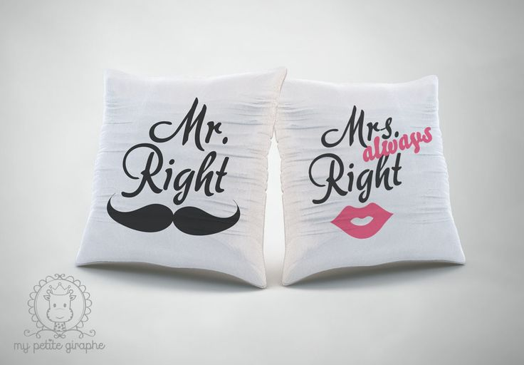 Pillows   http://www.zazzle.com/mr_right_pillows-189204981967859745  http://www.zazzle.com/mrs_always_right_pillow-189976328020966520 #zazzle #gifts #forher #forhim #pillows #mrright #mrsalwaysright #woman #gifts #forher #forhim #funny #couple #zazzle #store #gift #surprise