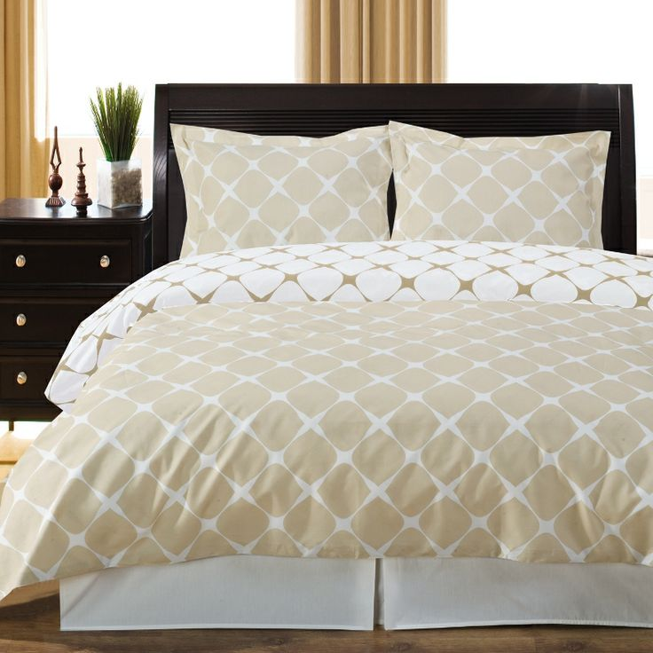 beige and ivory duvet cover set