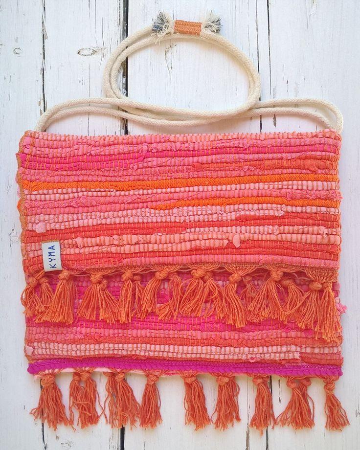 Bohemian Boho Ibiza Style ~ Tote Shoulderbag Kourelou Rug Bag ~ Handmade by http://www.kymastyle.com ~ DaWanda Shop: http://kymastyle.dawanda.com