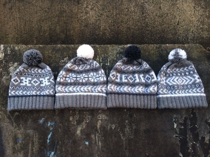 knitted winter hats for family