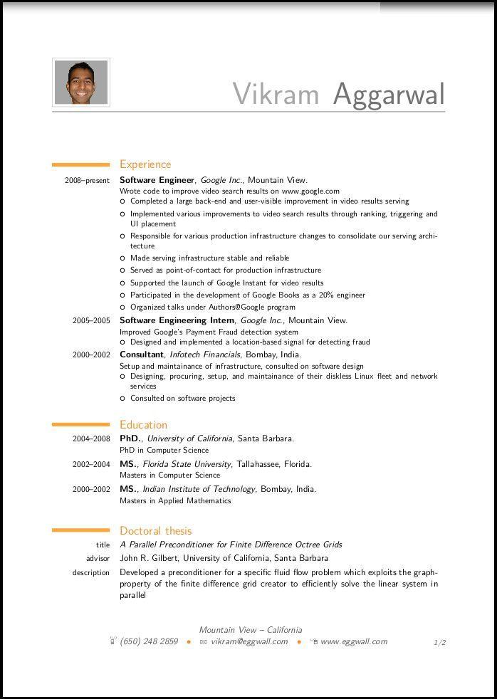 Best Resume Images On   Sample Resume Resume