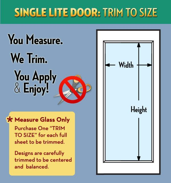 Trim To Size Service For One Light Doors Wallpaper For Windows One Light Trim Window Film