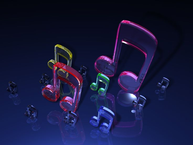 3D Music Backgrounds | 3D Glass Music Notes Wallpaper - http://fc08.deviantart.net/fs34/f ...