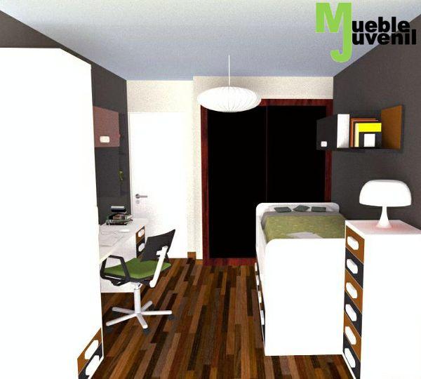 34 best images about dise o 3d habitaciones juveniles on for Diseno 3d habitaciones