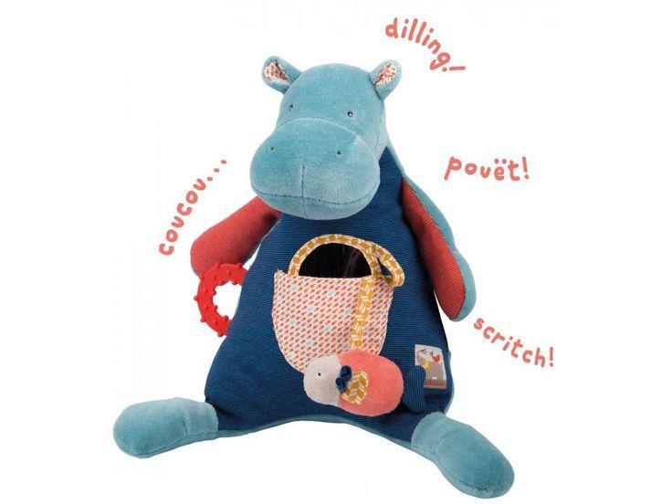 Moulin Roty - Hippopotame d'activités Les Papoum #paris #baby #babygirl #babyboy #fashionkids #puériculture #bebe #bébé #maternité #listedenaissance #naissance #cadeaunaissance #futuremaman #grossesse #enceinte #jeu #jouet #enfant #activité #deco #kids #babyroom #moulinroty #peluche #eveilbebe