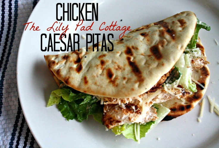 Chicken Caesar Pita recipe - This was delicious! We grilled the chicken and pita bread the first night, and the second night we made chicken caesar salads out of the left overs with grilled pita side. Will absolutely do again. - Amy