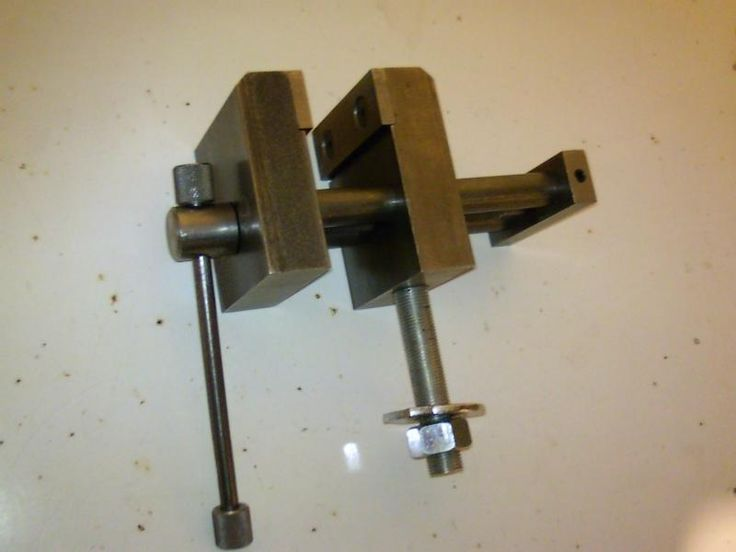 """Small Bench Vise by wnywelder -- Homemade bench vise fabricated from stock and featuring 3"""" jaws, 2"""" throat depth, and 5"""" clamping capacity. http://www.homemadetools.net/homemade-small-bench-vise"""