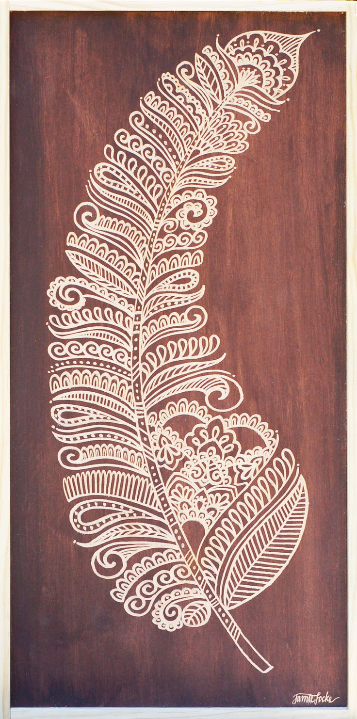 Carved Feather - Optional Carved Word Included