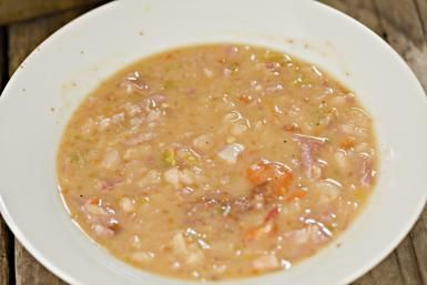 Make Delicious Slow Cooker Bean and Bacon Soup for Warmth on a Cold Day