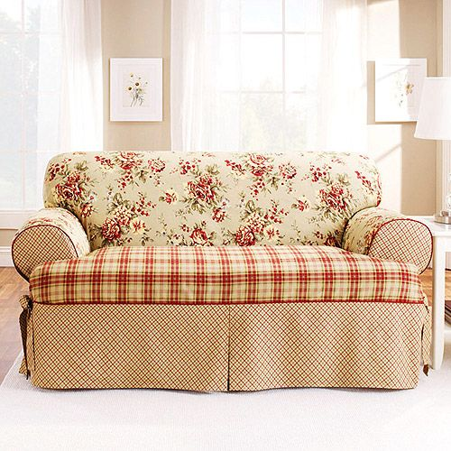 Fresh Sure Fit Lexington T Cushion Sofa Slipcover Red Awesome - Fresh sure fit waterproof sofa cover Luxury