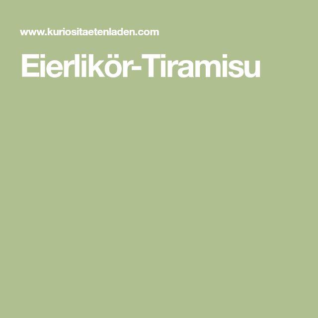 Eierlikör-Tiramisu