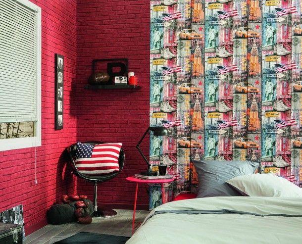 53 best Steintapeten Tapeten in Steinoptik images on Pinterest - stein tapete schwarz wohnzimmer