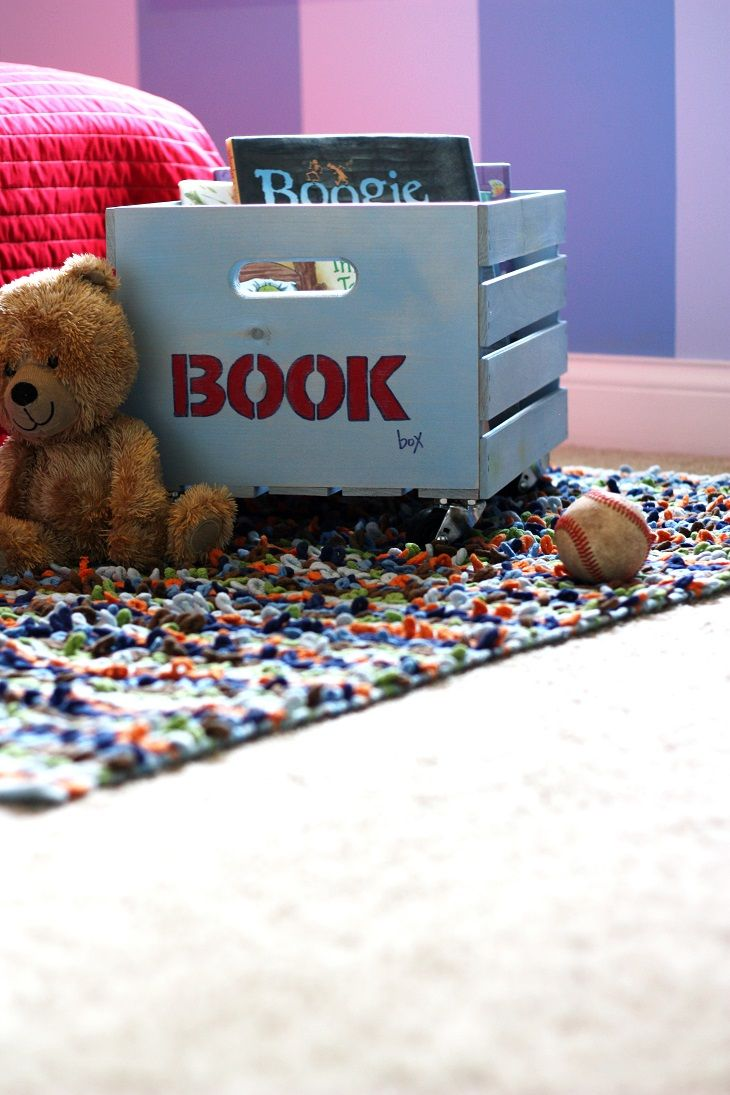 DIY Rolling Book Box And Toy Storage Box