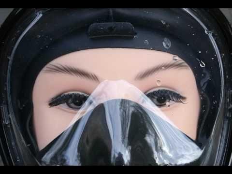 B06XHZ66W9  EZfull noir  Masque de Plongée, EZfull Toute la Face 180° Vi...