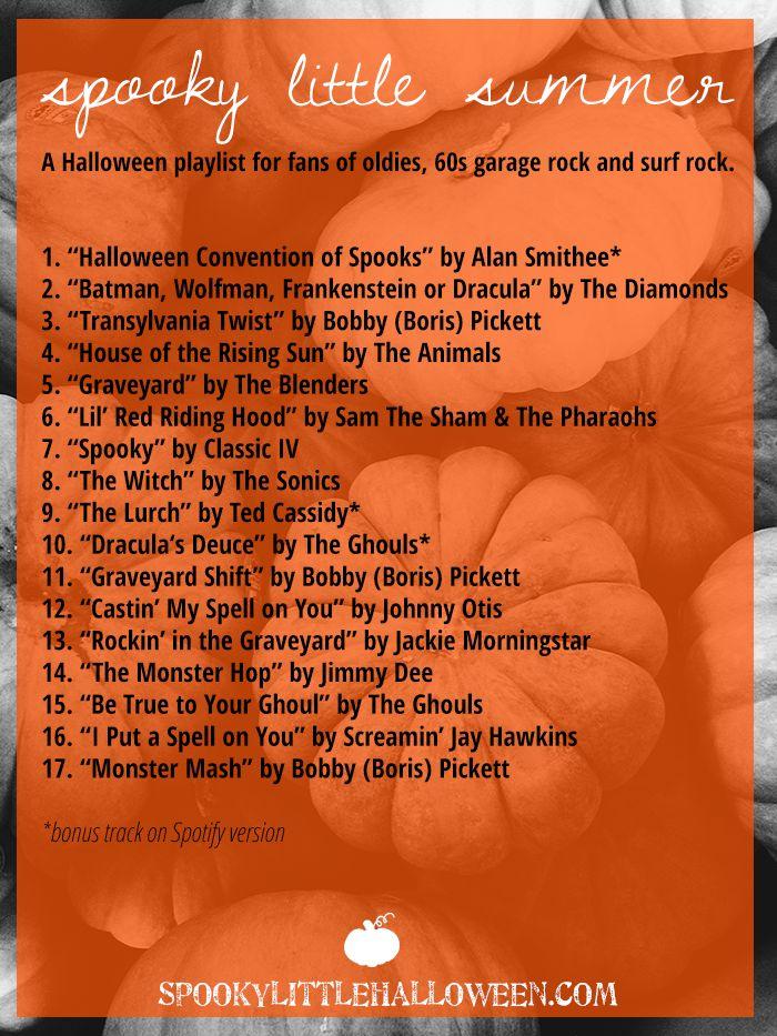 Halloween Playlist: Halloween Mixtape: Spooky Little Summer - Here's a Halloween mixtape for fans of…