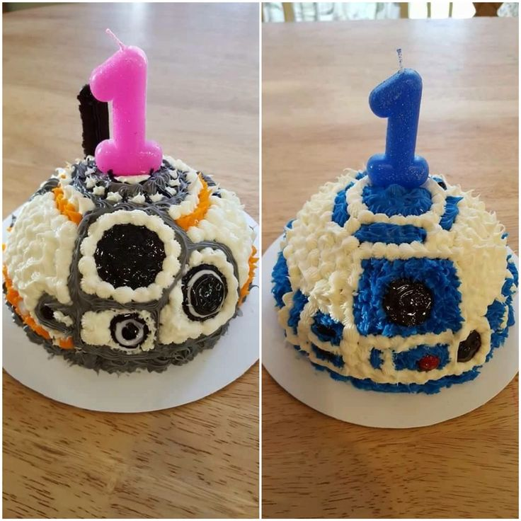 My super talented sister made these amazing smash cakes for a friend's twins…