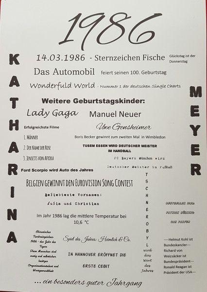 Geschenke für Männer - Druck - Jahrgang 1986 - ein Designerstück von textatelier bei DaWanda