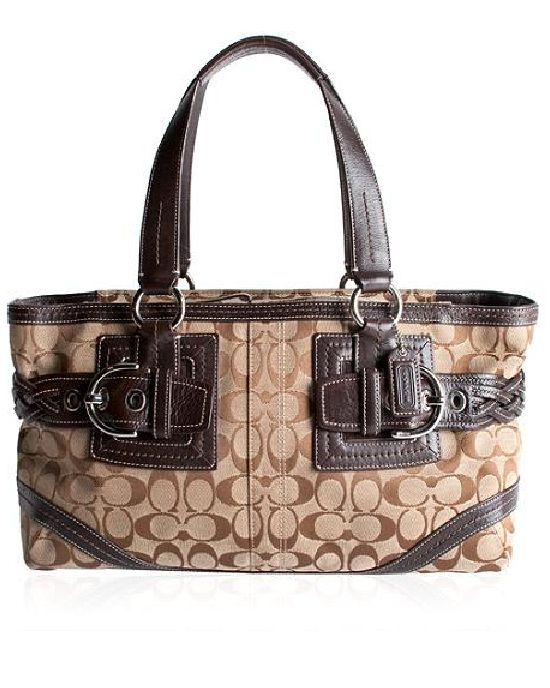 Coach Soho Signature Zip Satchel Handbag