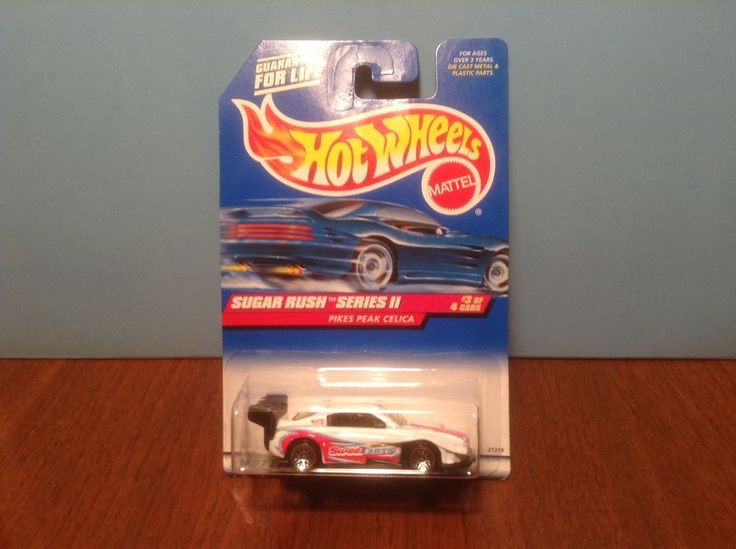 Hot Wheels Pikes Peak Celica #971 Sugar Rush Series II 1999 White 1994 Toyota #HotWheels #Toyota