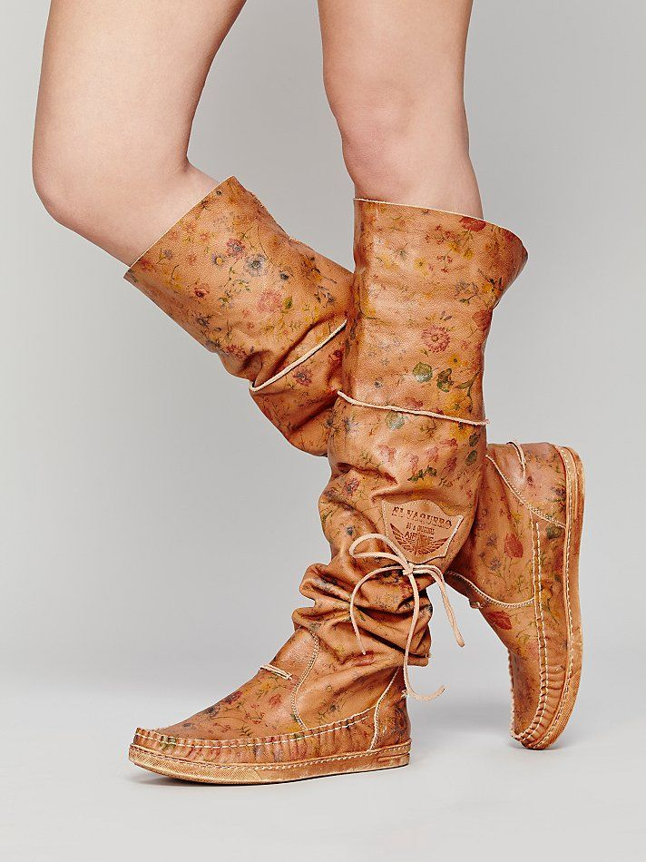 El Vaquero Fiorato Tall Moccasin At Free People Clothing