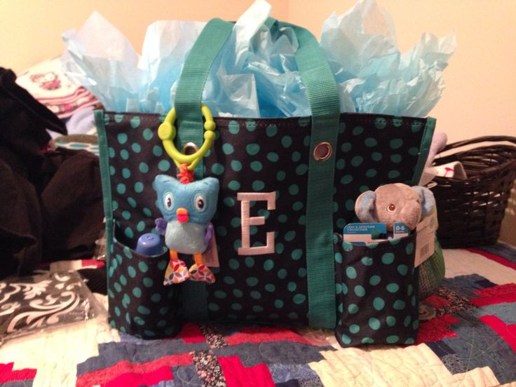 Lovely Organizing A Baby Shower Part - 10: Thirty One Navy Lotsa Dots Zip-Top Organizing Utility Tote! The Perfect Baby  Shower