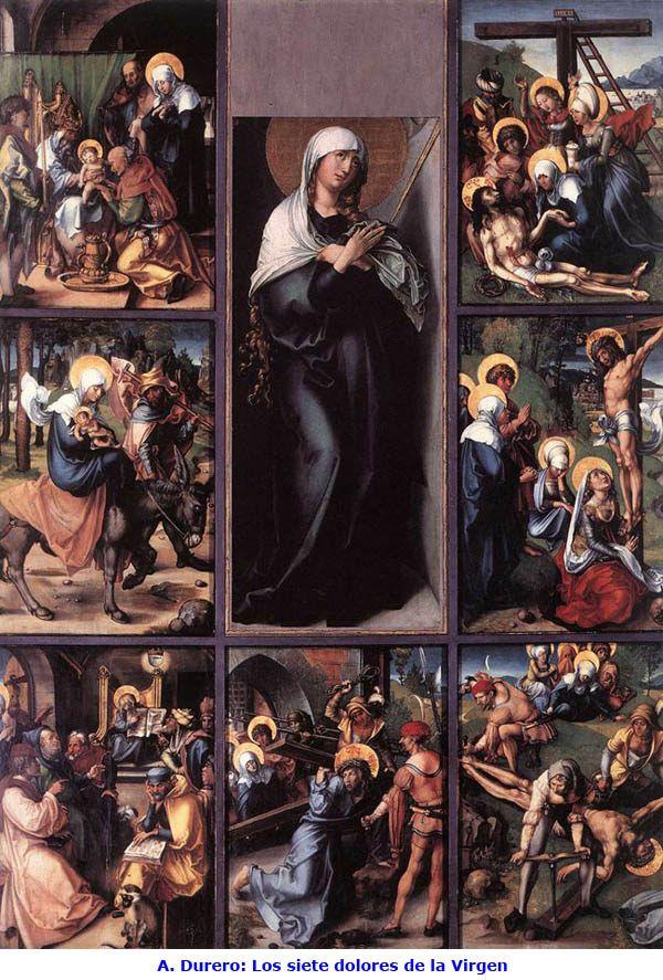 A. Durero. Los siete dolores de la Virgen.