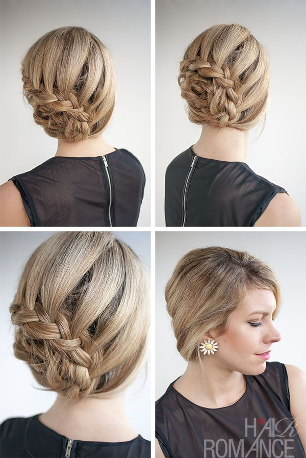 Strange Lace Braid Hairstyle Tutorials And Braided Updo On Pinterest Short Hairstyles For Black Women Fulllsitofus