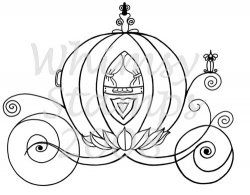 cinderella carriage outline - Google Search