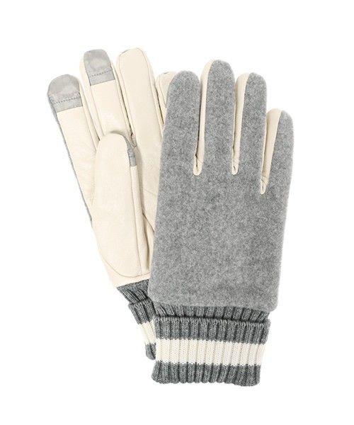 GANRYU Men's(ガンリュウ メンズ)の2016FW スタジアムグローブ(手袋)|杢グレー