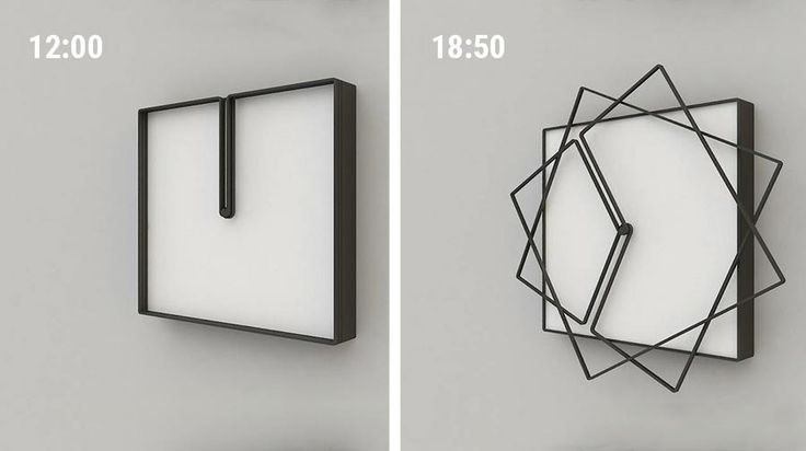 Gerahmtes Uhr-Design von Nazar Sigaher