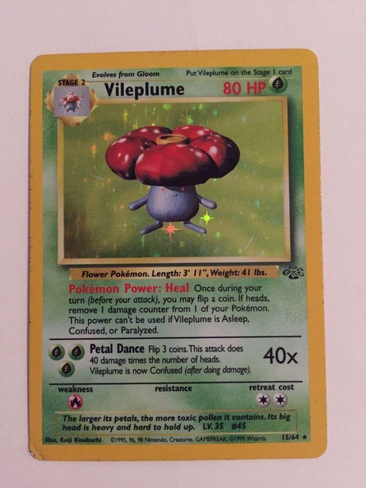 Pokemon Karte Vileplume 15/64 Englisch Holo