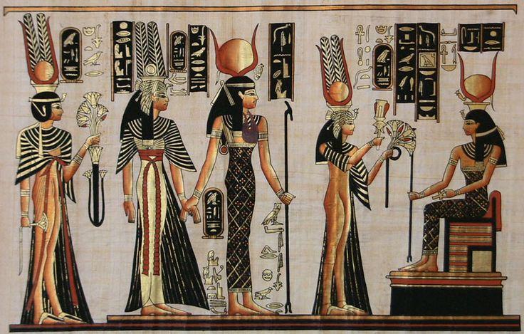Nineteenth dynasty Queen Nefertari and the goddess Hathor