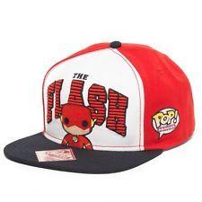 marvel comics flat bill hats | NEW DC COMICS THE FLASH SNAPBACK HAT CAP POP HEROES FUNKO FLAT BILL ...